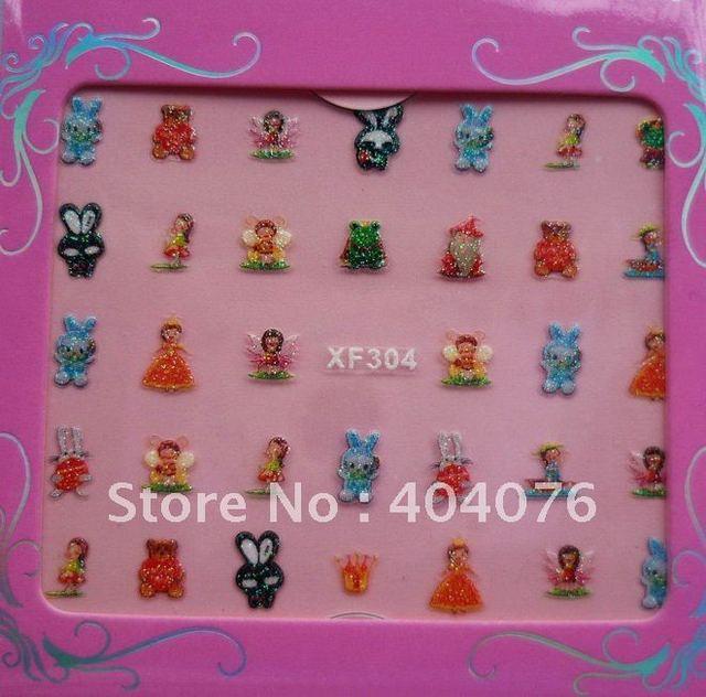 Wholesale Price 150x Cartoon designs nail sticker, French nail art, Nail Art Sticker,3D Sticker,free shipping