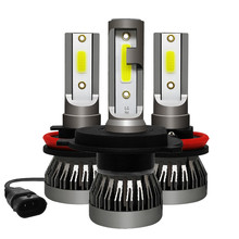 2x Mini Size H1 H7 LED H4 H11 HB3 HB4 9005 9006 Led Car Headlight Bulb 6000K 9000LM 36W Auto Lights 12V Automobile Fog Lamp