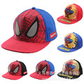 2016 Children Baseball Caps Kid Boys Casual Adjustable Character Print Hip Pop Baby Child Spider Man Car Cartoon Snapback Hat