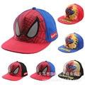 2016 Children Baseball Caps Kid Boys Casual Adjustable Character Print Hip Pop Baby Child Spider Man Car Cartoon Snapback Hat