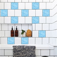 10Pcs Mosaic Square Self Adhesive Tile Stickers Decal Home Decor Wall Art Wholesale Free Shipping