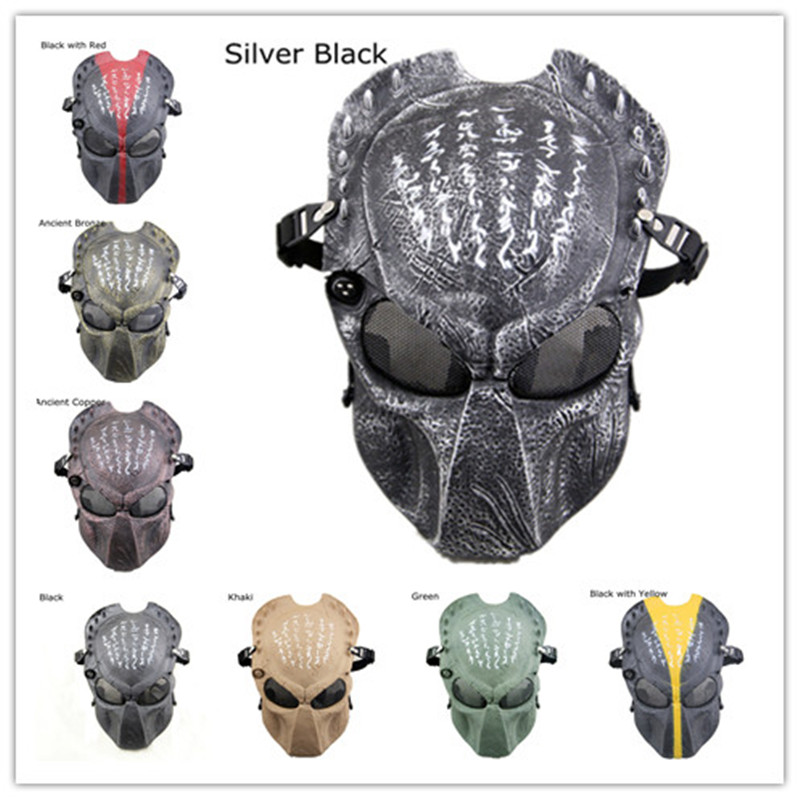 Full Face Predator Helmet Costume Halloween Cosplay Mask CS Game Outdoor Protection Paintball Tactical Army of Two Masks
