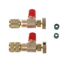 2 шт. предохранительный клапан R410A R22 кондиционер Быстрый Соединительный соединитель адаптеры