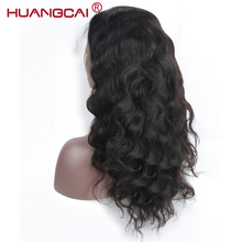 Huangcai Pre Plucked 150% Density 360 Lace Frontal Wigs for Black Woman Brazilian Body Wave Human Hair Wigs with Baby Hair Remy