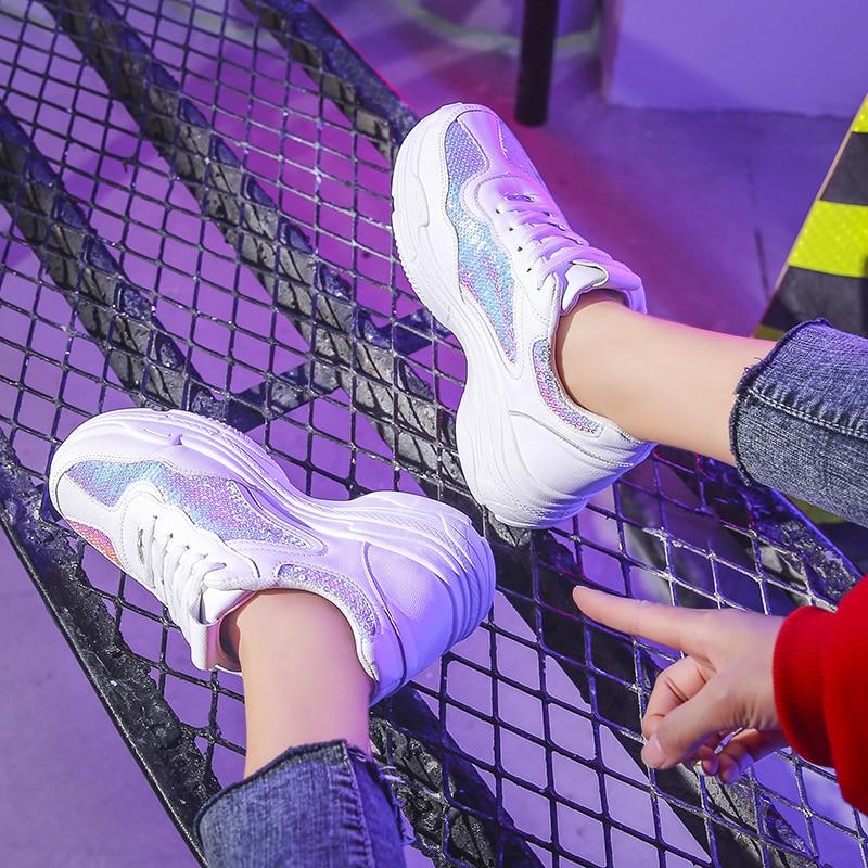 Casual Amortissement blanc Tissu Multi argent Femmes Classique Mode Spéciale Sequin Vulcaniser Antidérapant Plate De Sneakers Espadrilles Offre Femelle 2019 Kjstyrka forme q4w7aa