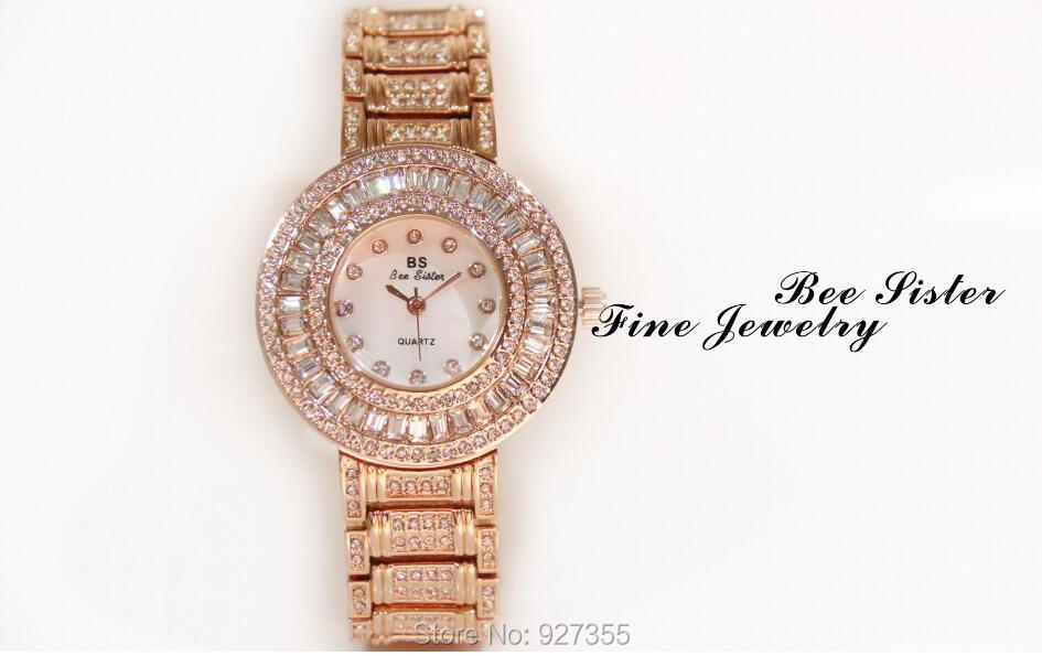 2019 brand Fashion Women Watches High Quality Austrian Diamond Women Rhinestone Watches Rose Gold Woman Lady Dress Watch Clocks in Women 39 s Watches from Watches