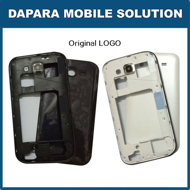 9102bba677d Original Housing Cover For Samsung Galaxy Grand Duos GT-i9082 i9082 Battery  door Back Case middle plate frame With Side Buttons