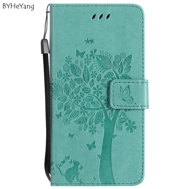 e2355e1fc76940 BYHeYang For Fundas huawei p20 lite case Wallet Magnet Flip Cover Leather Case  For Huawei Nova P10 Lite case 3D Pattern Tree Cat