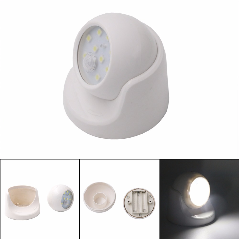 Security 9 LED Led Motion Sensor 360 Degree Rotation Children's Nightlight Auto PIR IR Infrared Detector Lamp Motion Night Light 1x led night light lamps motion sensor nightlight pir intelligent led human body motion induction lamp energy saving lighting