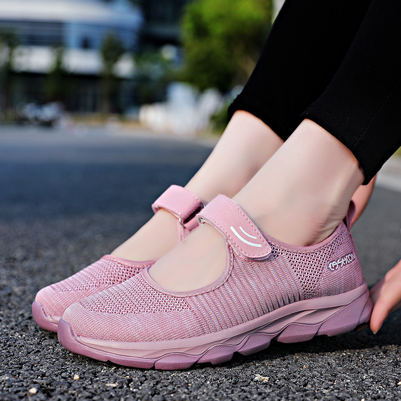 2019 Summer Shoes Women Mesh Sneakers Breathable Flats Casual Shoes Fashion Mother Sneaker Moccasin Zapatos Mujer Ladies Loafers