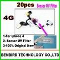 20 шт. Датчик Приближения UV Фильтр Наклейка с Пена Замена Ремонт Части для iphone 4 4g B1107