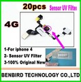 20pcs Proximity Sensor UV Filter Sticker with Foam Replacement Repair Part for iPhone 4 4G B1107