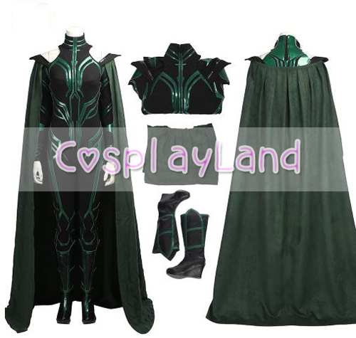 Movie Thor 3 Thor Ragnarok Cosplay Costume Hela Cosplay Costume Sexy Women Halloween Costumes Custom Made in Black Jumpsuit