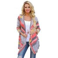 2016 حار بيع النساء كيمونو صوفية القمم أنثى vestidos انتظام شريط شال خمر طويلة الأكمام التستر بلوزة عارضة