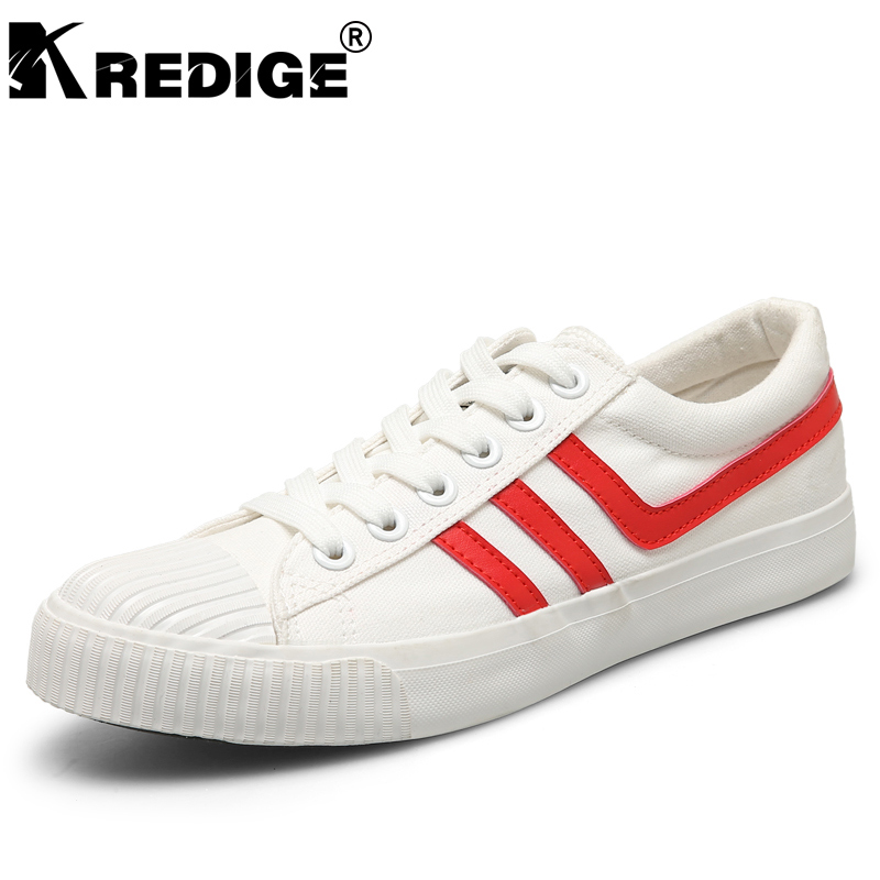 KREDIGE Breathable Canvas Men's Shoes Hard-Wearing Soles Light Lace-Up Casual Shoes Anti-Skid Wild Low Shoes Men Big Size 39-44 kredige anti odor zip tide leather shoes hard wearing mens casual shoes pu breathable waterproof plate shoes british style 39 44