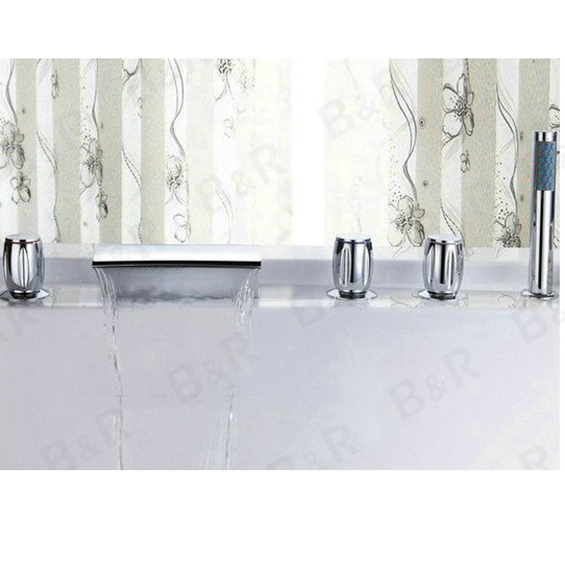 BAKALA Waterfall bathtub faucet bathroom bath tub mixer taps with ...
