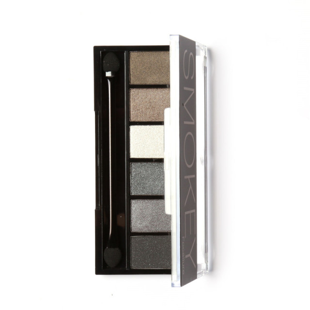 FOCALLURE 6 Colors Eyeshadow Palette Glamorous Smokey Eye