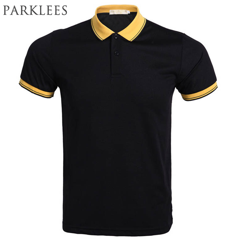 Brand Black   Polo   Shirt Men   Polo   Homme 2016 Summer Style Short Sleeve Mens   Polos   Casual Solid Color Slim   Polo   Shirts