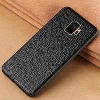 Genuine Leather case telefone para Samsung Galaxy S20 Ultra S9 S7 S8 s10 s20 plus Nota 10 Plus a50 a80 a70 A51 a7 a8 caixa de proteção