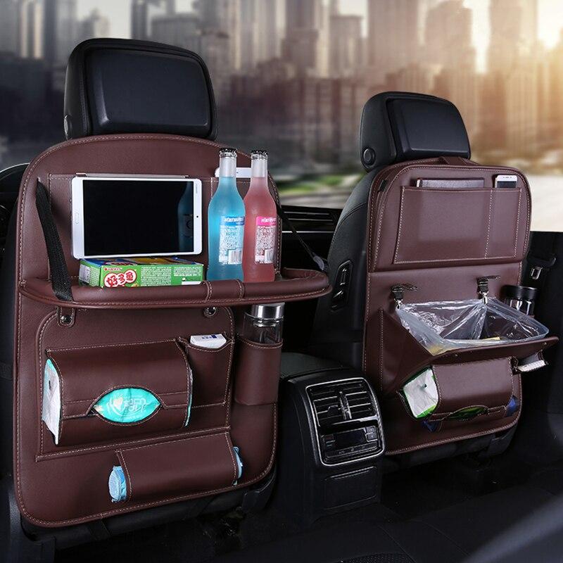 Novo Assento de Carro de Volta Saco de Lixo Mesa Dobrável sacos do Organizador saco de Armazenamento De Viagem Acessórios Para Automóveis Estiva Tidying Com lixo