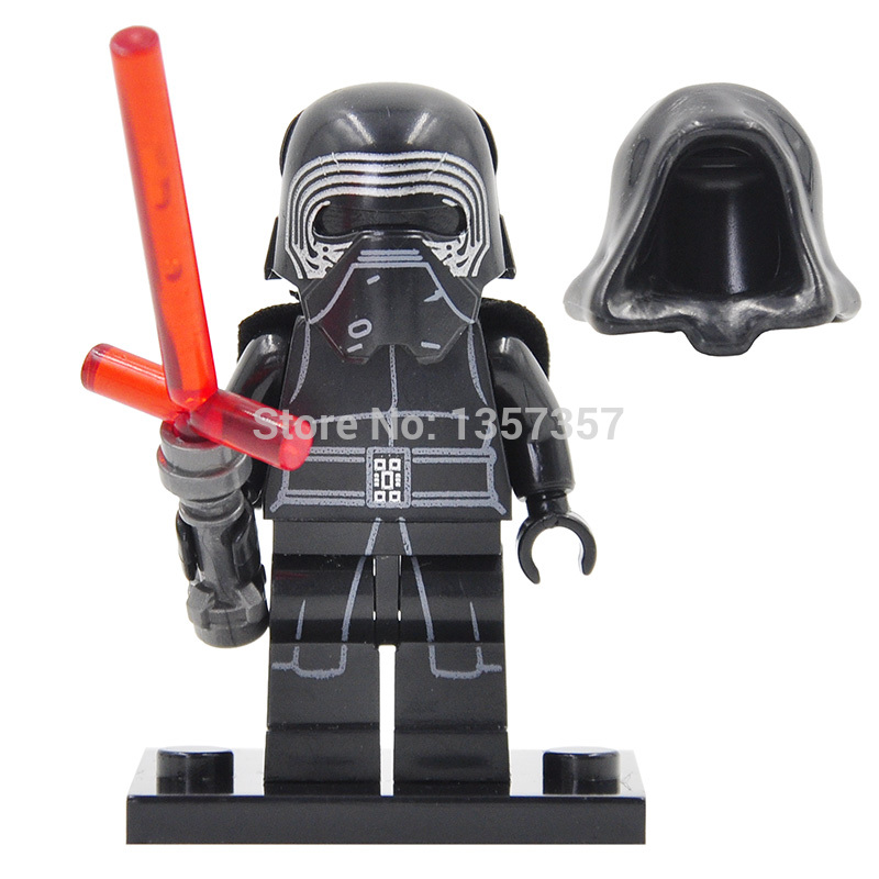 Star Wars VII Kylo Ren Figure Single Sale The Force Awakens Building Blocks Sets Model Bricks Toys for Children color metal 3d puzzle star wars millennium falcon for adult 2016 new batman flying wing kylo ren shuttle 3d nano jigsaw puzzles