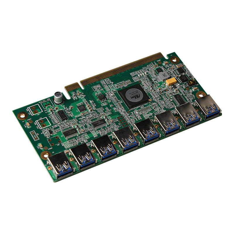 1 to 8 PCIe Miner Machine Graphics Card Extension Cord PCI-E 16X turn 8 Port USB3.0 PCIE Expansion Cards Riser Card BTC LTC ETH 1 to 8 port miner machine graphics card extension cord pci e 16x turn 8 port usb3 0 pcie expansion cards riser card btc ltc eth