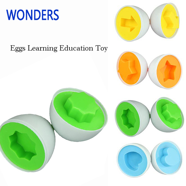 6 Eggs set early Learning Education Toys Mixed Shape Wise Pretend Puzzle Smart Baby Kid Learning Toy