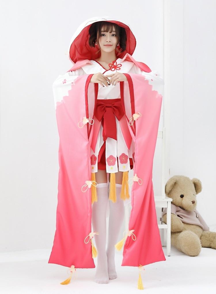 Halloween Costumes Witch Costume Onmyoji Division God Peach Demon Clothing Onmyoji Kagura Cosplay Women