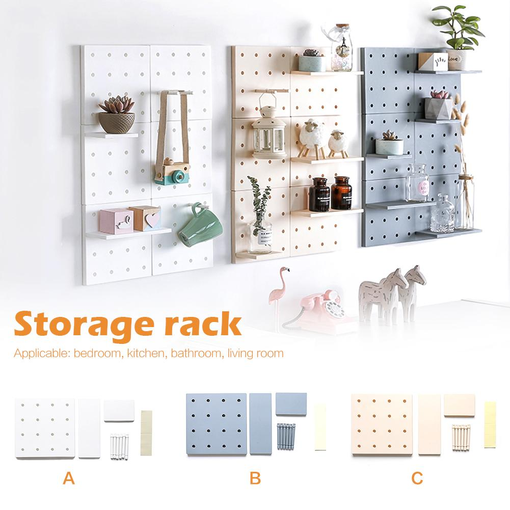 Plastic Cotton Wall Door Hanging Wall Hanging Shelf Fashionable Durable Environmental Protection Storage Shelf Home Decoration