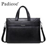 Padieoe Luxury Men S Business Shoulder Bag Famous Designer Male Handbags Genuine Leather Briefcase High Quality