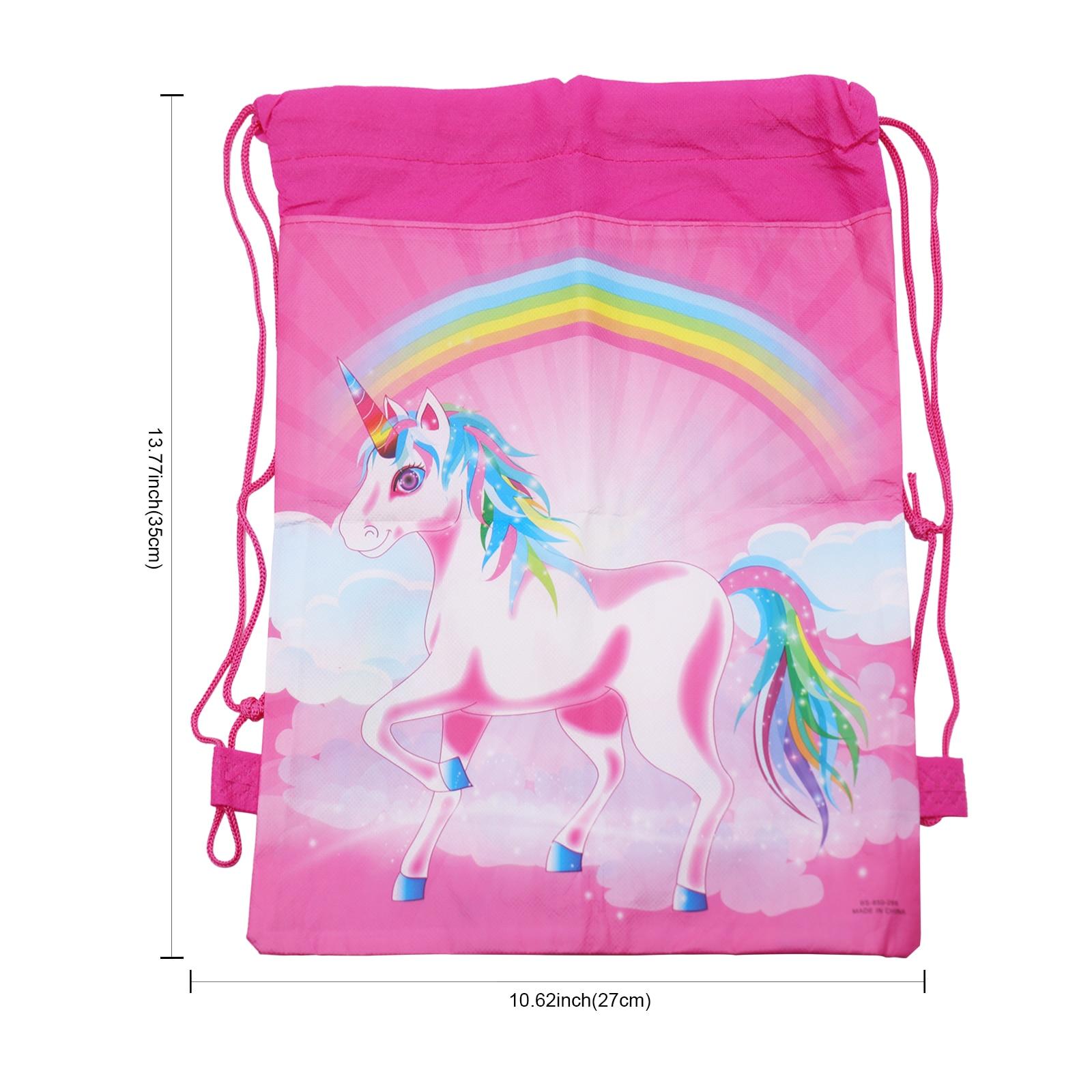 Купить с кэшбэком 27x35cm Fashion Drawstring Bag  Unicorn Mochila Feminina Drawstring Backpack Women daily Casual  portable travel storage bag