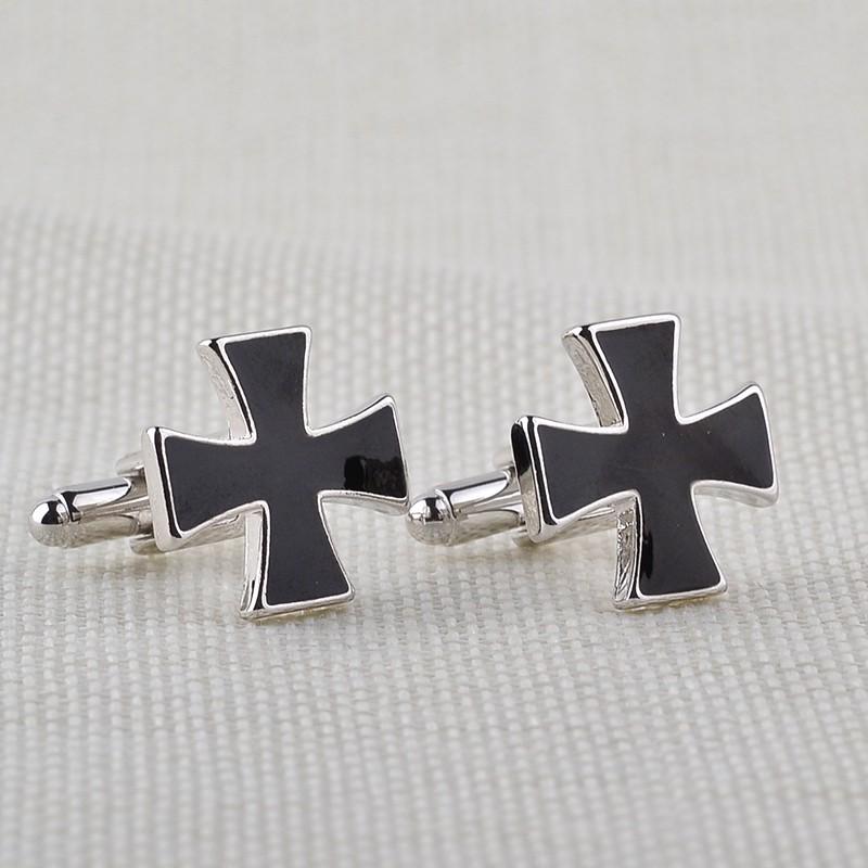 HTB1D45VKXXXXXXHXVXXq6xXFXXX9 - Black Cross Shaped Cufflinks