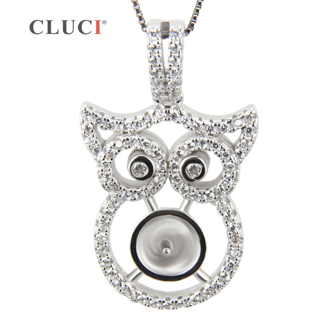 Cluci sterling silver owl jewelry pearl pendant mounting christmas cluci sterling silver owl jewelry pearl pendant mounting christmas charms for jewelry making free aloadofball Image collections