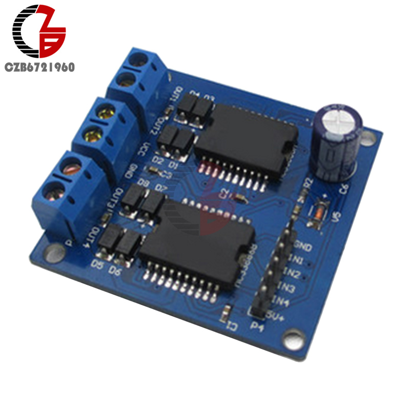 <font><b>MC33886</b></font> 5-12V 5A High-current low-impedance Dual Motor Driver Power Module For Smart Car image