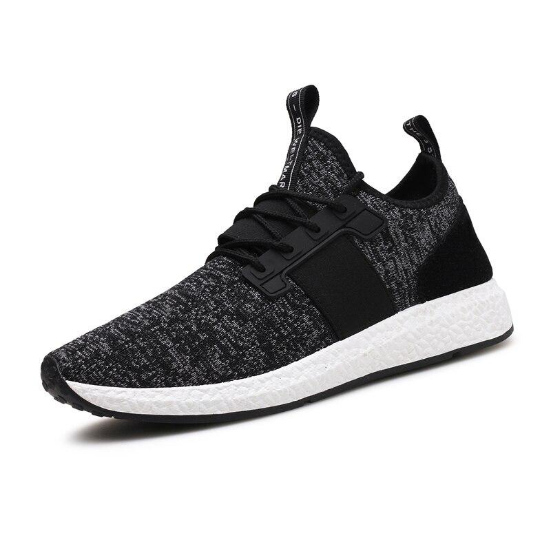 2018 Sneakers Respiração Jogging para homens sports running Shoes Voar Weave Mens Trainers Walking Esporte Ginásio Homens Sapatos Zapatillas Hombre