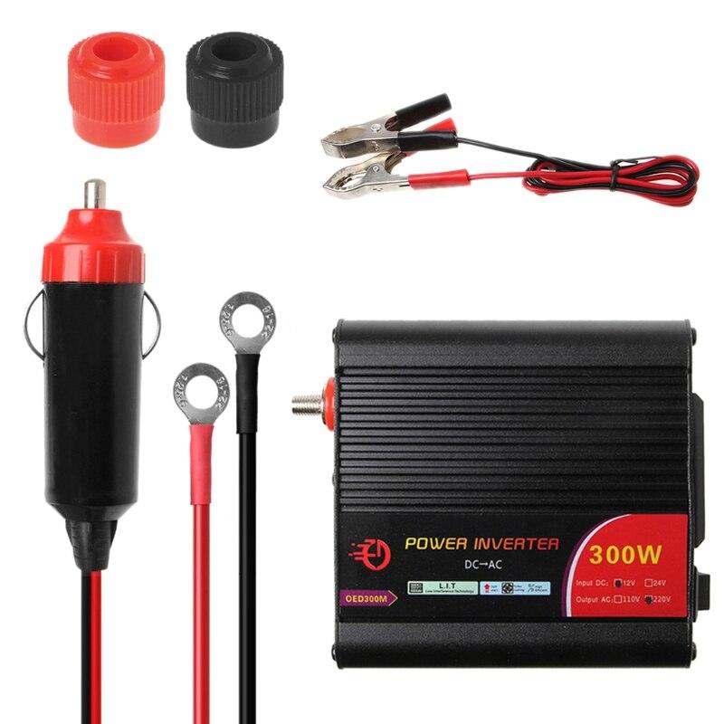 Kostenloser versand 300W Power Inverter Konverter DC 12V zu 220V AC Autos Inverter mit Auto Adapter