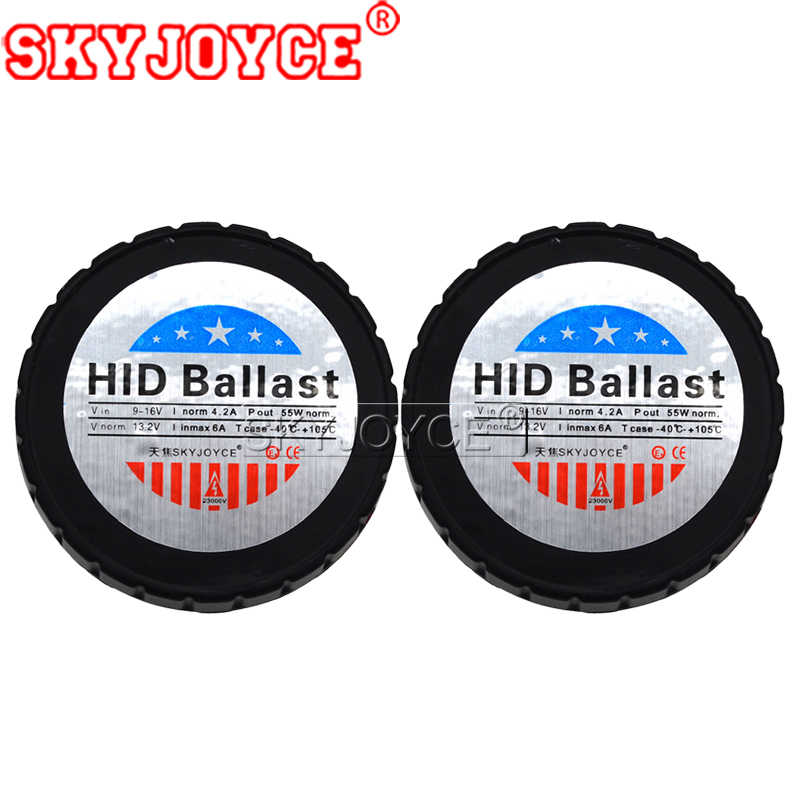SKYJOYCE AC 12V 55W Canbus HID Ballast For 55W Xenon HID Replacement Bulb Headlight Kit Mini All In One Slim Round HID Ballast