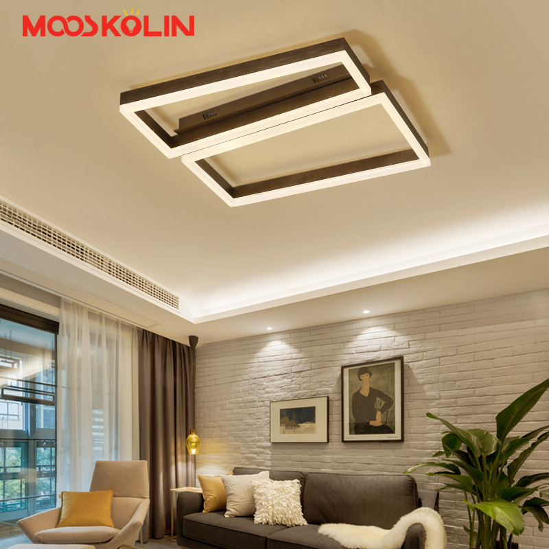 Modern Living room led ceiling lights for dining room bedroom with remote control lamparas de techo dimming lamp coffee lights