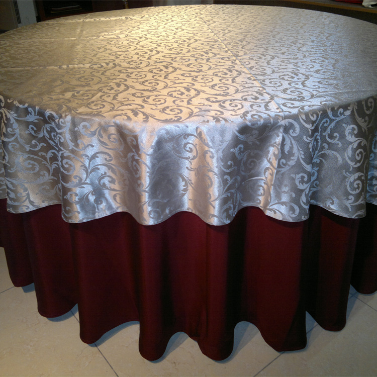 Hotel restaurant jacquard cloth, european-style luxury round table cloth, custom hotel dining table cloth ...