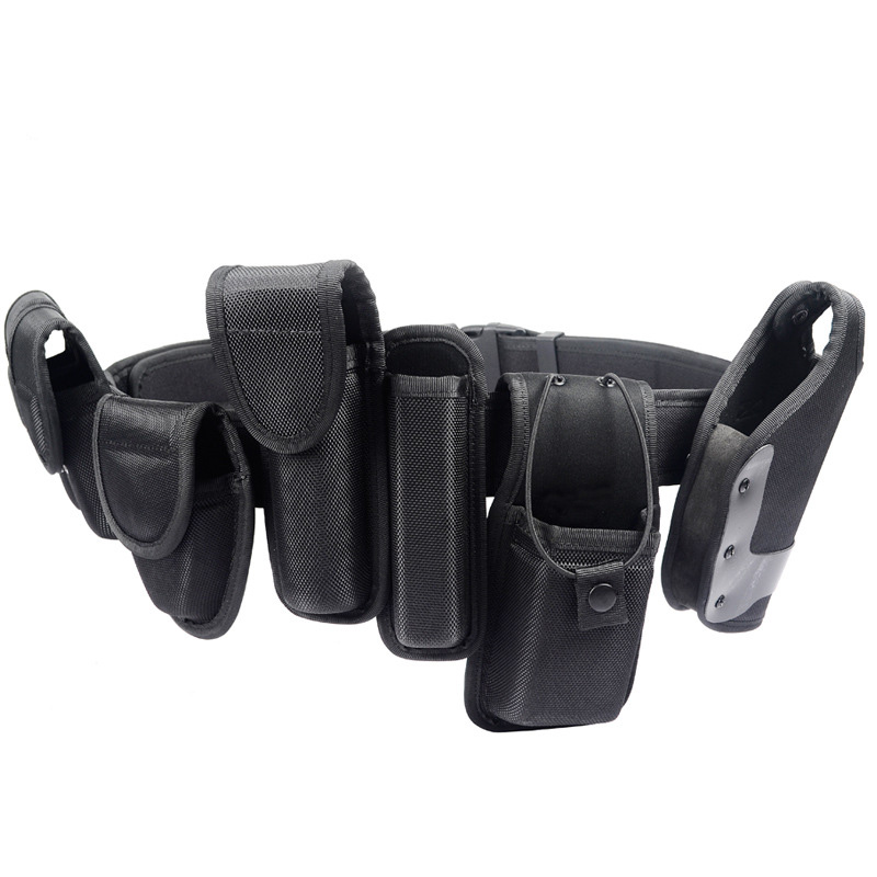 7 in 1 Holster 1000D Nylon Military Tactical Security Belts Police Utility Heavy Duty Army Combat Waist Belt w/ Pouches Bag universal nylon cell phone holster blue black size l
