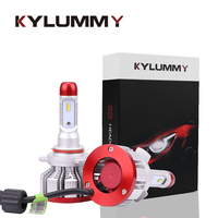 KYLUMMY 1 Pair Car LED Headlight Bulbs 9012 HIR2 ZES Led 64W 6500K 12000Lm Car Styling