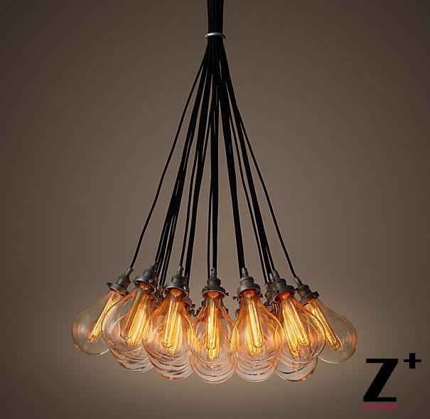 Us 1399 99 Replica Item 27 Lights Teardrop Gl Filament Cord Chandelier Iron Free Shipping In Chandeliers From