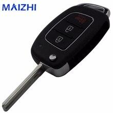 Maizhi для Hyundai ix35 i20 3 Пуговицы изменение складной брелок дистанционного Ключи В виде ракушки ключ чехол режиссерский Средний лезвие
