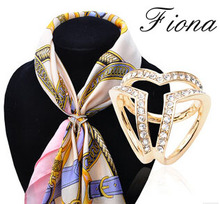 Luxury Rhinestone Scarves Jewelry Accessories for Women Casual Dress,women wedding brooch scarf buckle,small scarf clip pins