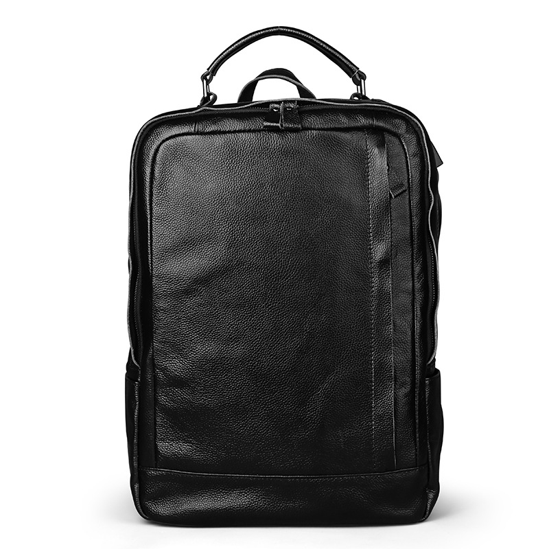 Men Bag Genuine Leather Men's Backpack Male Natural Leather Laptop Computer Bags Waterproof Travel Bag School Bags Free Shipping male bag vintage cow leather school bags for teenagers travel laptop bag casual shoulder bags men backpacksreal leather backpack