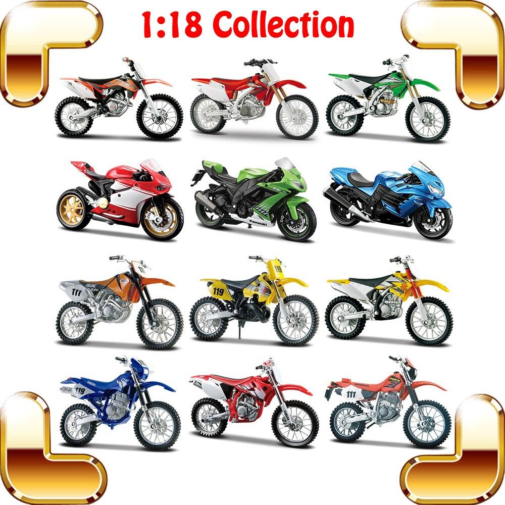 Cadeau de noël KTM 1/18 modèle moto jouet Collection voiture avant décoration moulé sous pression métal Racer Match moto présent moteurs