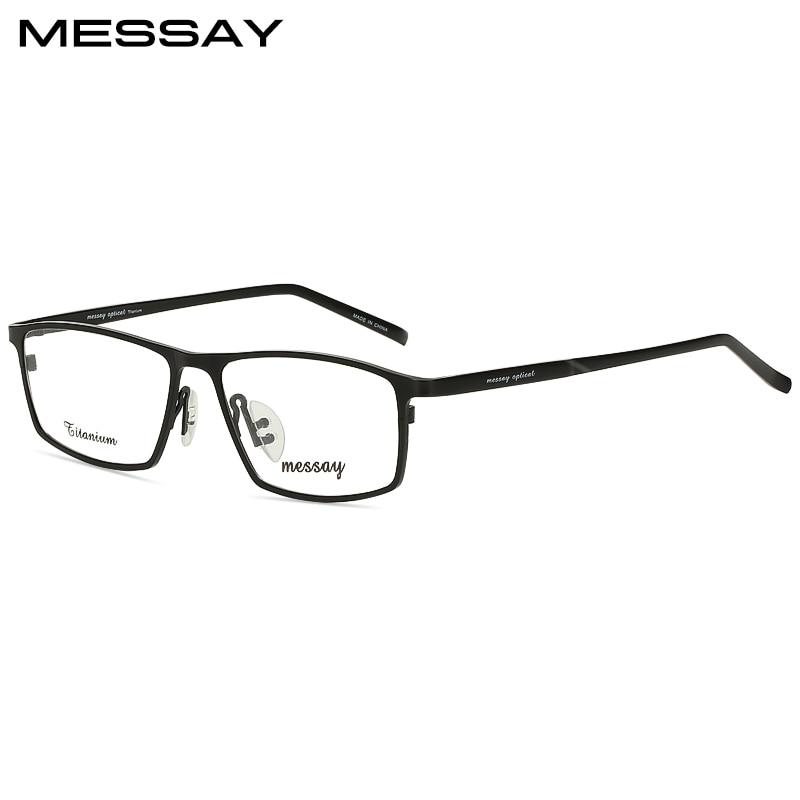 MESSAY marca P8184 marcos Titanium de los hombres gafas ópticas ...