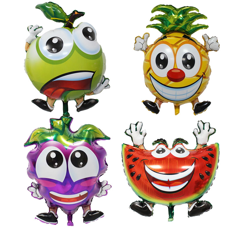Fruits Foil Balloons Strawberry Helium Ballons Children Inflatable classic toys