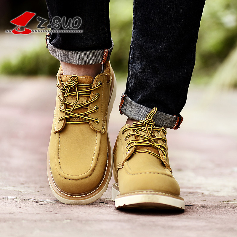Zsuo men s tooling casual shoes the loggerhead casual leather male low lacing shoes ZSGTY16066 free