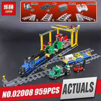 Lepin 02008 Genuine City Series 959Pcs The Cargo Train Set 60052 Building Blocks Bricks Educational Toys